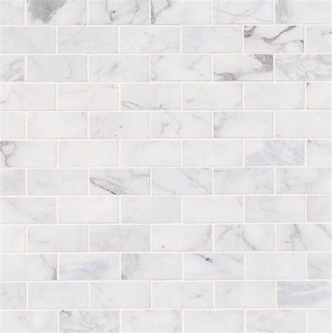 msi calacatta cressa honed    marble subway tile