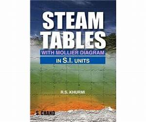 Steam Table With Mollier Diagram R S Khurmi  S I Units