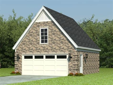 Two-car Garage Loft Plan With Reverse
