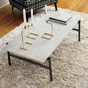 Stone coffee tables with modern style for Marble granite coffee tables