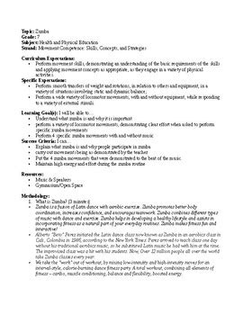 grade 7 health and physical education lesson plan