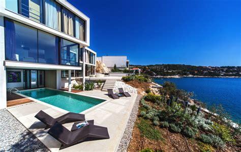 Moderne Häuser Am Meer by Ferienvilla Kroatien Am Meer Mit Pool Luxusurlaub Bei