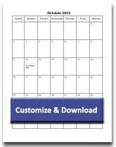 printable monthly calendar templates customize word