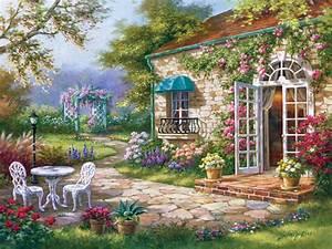 Puzzle Sung Kim : Spring Patio II Art-Puzzle-4177 500