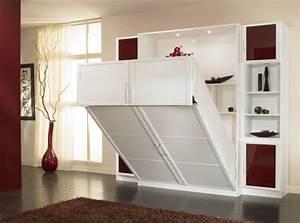 Meuble Lit Escamotable : meuble lit autoporteur campus ~ Farleysfitness.com Idées de Décoration