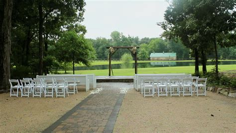 stock video   beautifully decorated outdoor wedding