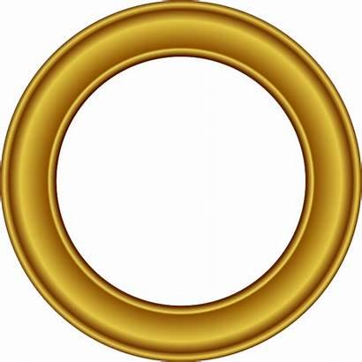 Frame Round Golden Border Button Freepngimg Different