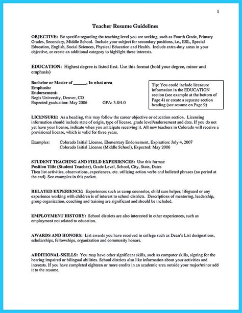 Resume Teaching Experience by There Are Several Parts Of Assistant Resume To