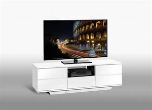 Meuble Laqué Noir : meuble tv contemporain blanc laqu noir katel meuble tv ~ Premium-room.com Idées de Décoration