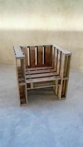 Fauteuil En Palette Facile : fauteuil en palette table de lit ~ Melissatoandfro.com Idées de Décoration