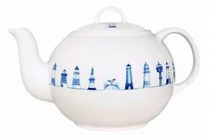 Teekanne Weiß Porzellan : teekanne 1l leuchtturm leuchtturm geschirr porzellan ~ Michelbontemps.com Haus und Dekorationen