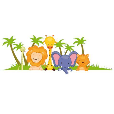 stickers animaux de la jungle pas cher