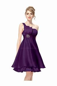 a line one shoulder short purple bridesmaid dresses With short purple wedding dresses