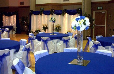 Gold And Royal Blue Wedding Decor