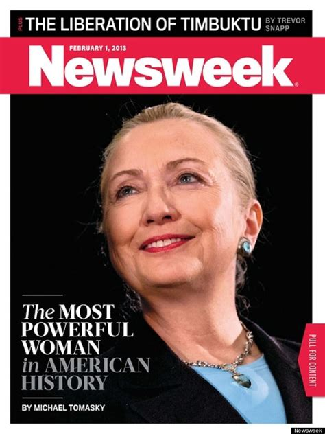 Hillary Clinton Cover by Newsweek Hillary Clinton Is Most Powerful Woman In