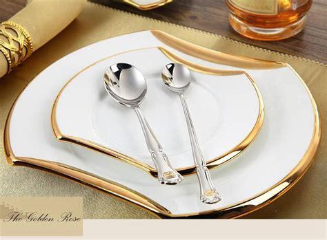 cutlery steel set metal flatware sets  pcs restaurant