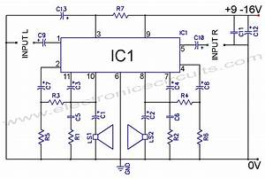 Mh 8095  Free Project Circuit Diagram 10w Power Amplifier