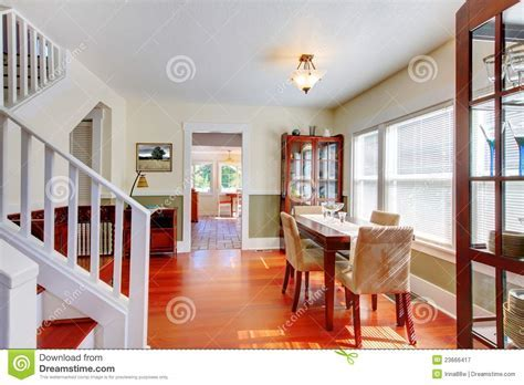 Dining Room In Beautiful Old American Small House. Stock