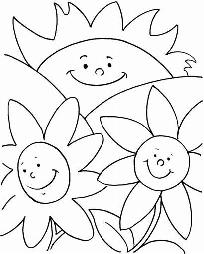 Coloring Summer Pages Flowers Jumbo Happy Simple