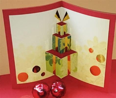 weihnachtskarten pop  karte basteln
