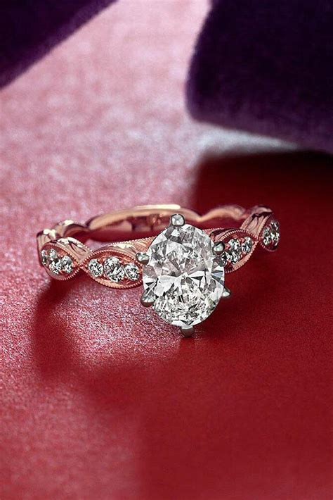 39 best rose gold engagement rings for a tender look oh