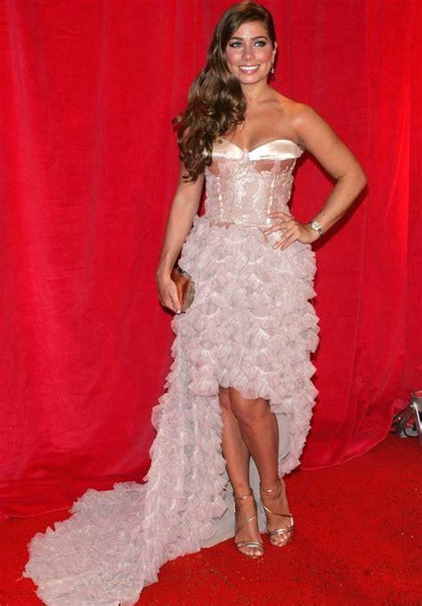 Ice Rink Carpet by British Soap Awards Jorgie Porter Bares Sideboob In