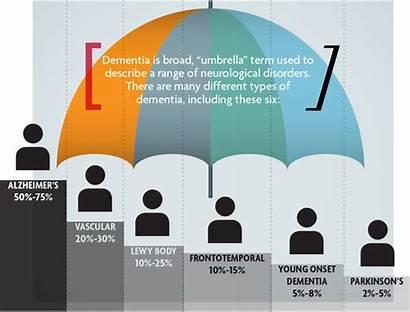 Dementia Alzheimer Umbrella Types Graphic Defined Disease