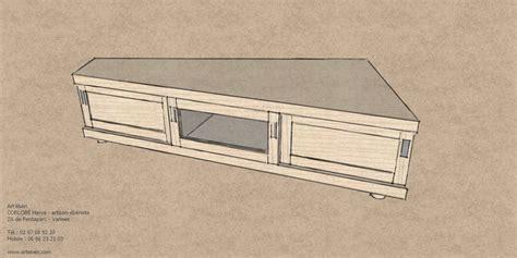 bureau industriel metal bois meuble tv d 39 angle 39 ébènart 39 ébèn