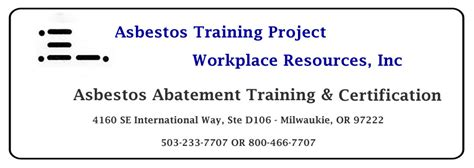 asbestos training project workplace resources