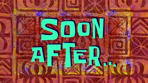 Soon After  Spongebob Time Card #136 Youtube