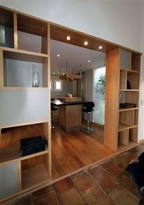 Meuble Haut Salon : idees de salle sejour cuisine galerie avec meuble separation cuisine salon des photos ~ Teatrodelosmanantiales.com Idées de Décoration