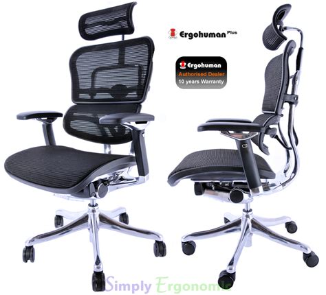 ergohuman plus ergonomic office chair ergonomic in design