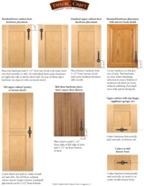 Kitchen Cabinet Drawer Knob Placement by Cabinet Door Hardware Placement Guidelines Taylorcraft
