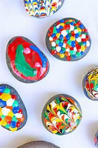Easy Art for Kids: Puffy Painted Rocks - Babble Dabble Do