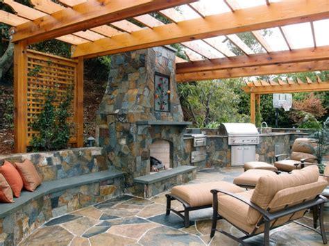 photo cuisine exterieure jardin la décoration extérieure avec un treillis de jardin