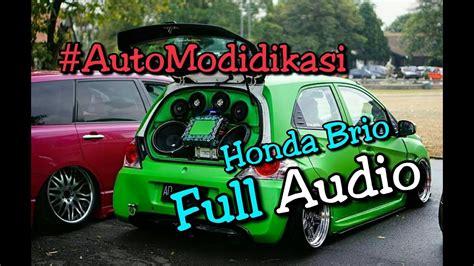 modifikasi mobil honda brio terbaru modif honda brio