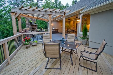 traditional deck with doors by 3wire photography