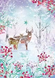 Christmas Card Outline Design Ltd Enchtanted Forest Christmas Card