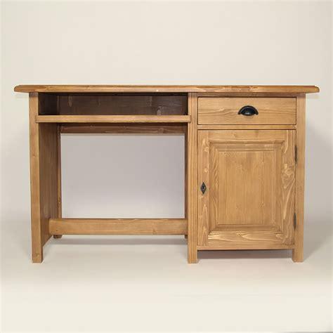 bureaux en bois bureau en bois massif ciré miel 1 porte made in meubles