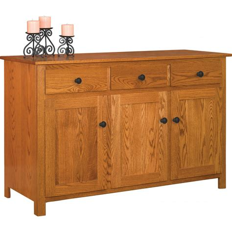 Entry Sideboard by South Three Door Buffet Amish Crafted Furniture