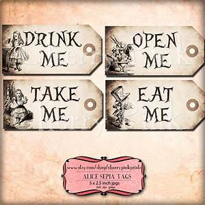 alice in wonderland tags sepia alice tags alice in With alice in wonderland tags template