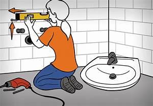 Waschbecken Selbst Montieren : waschtisch anbringen obi ratgeber ~ Markanthonyermac.com Haus und Dekorationen