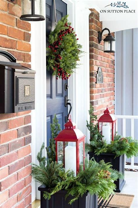 easy christmas porch decor ideas  sutton place blog