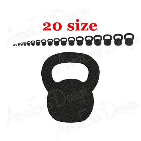kettlebell embroidery silhouette