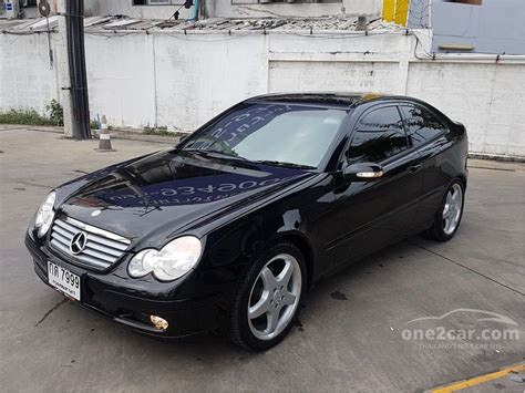 mercedes w203 coupe mercedes c230 kompressor 2003 sports 1 8 in กร งเทพและปร มณฑล automatic coupe ส ดำ for 1