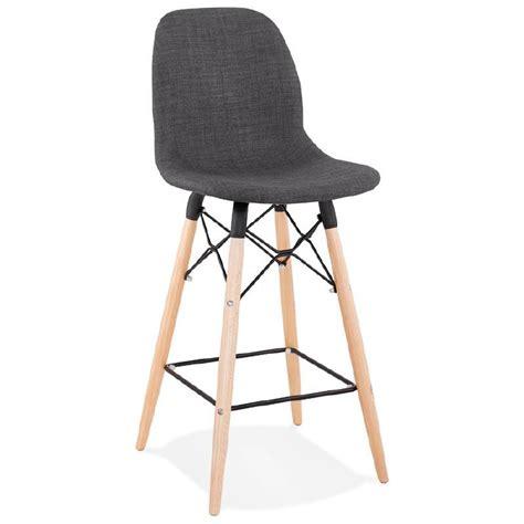 tabouret de bar chaise de bar mi hauteur scandinave paolo gris fonc 233