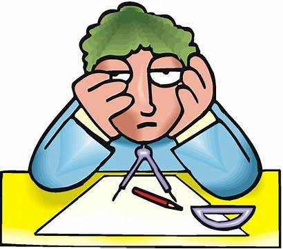 Clipart Frustrated Clip Student Bored Geometry Resistant