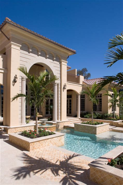mediterranean house plans with pool sater group s quot cordillera quot custom home plan mediterranean pool miami by sater design