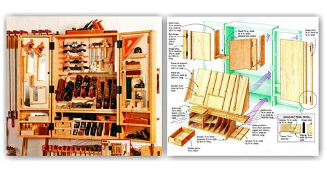 hand tool wall cabinet plans woodarchivist