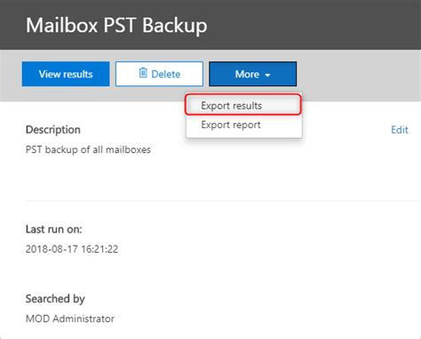 Office 365 Mail Export by How To Export Office 365 Mailboxes To Pst Using Ediscovery